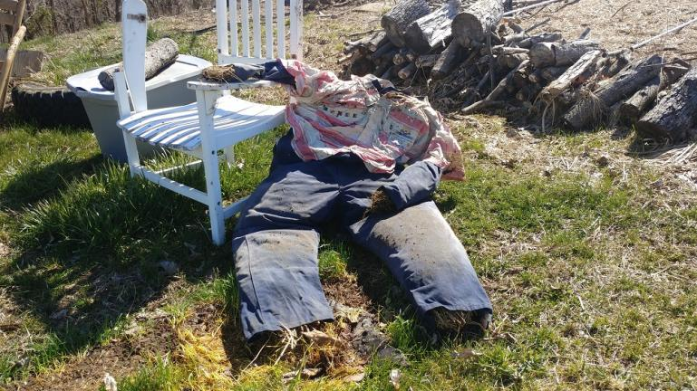 Art, our Scarecrow, needs some serious surgery  :~)
