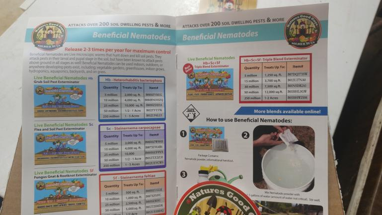 Beneficial Nematodes to kill off all the bad bugs