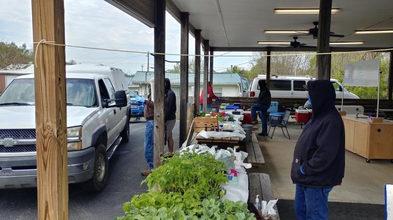 Covid-19 Farmers Market Set Up in Edmonton 4-17-20
