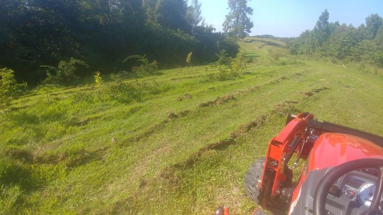 Keyline Plowing the Berry Swales with the New Tractor 8-24-20