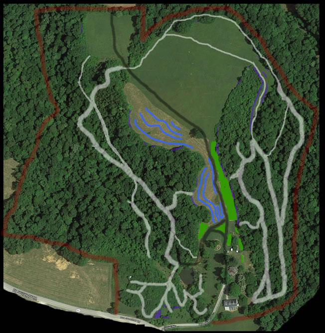 Current active plantings and trails