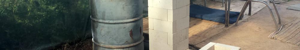 Rocket Mass Heater full stack Level test 1