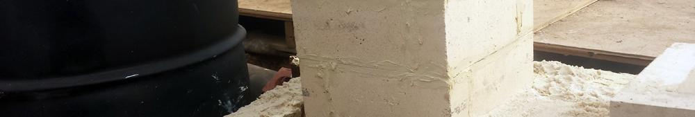 Refractory Cemented Brick Foundation for Burn Barrel with a Sand Gasket