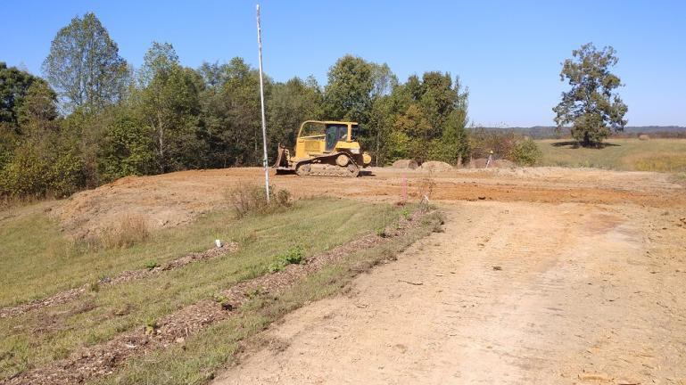 Leveled Building Pad for the GreenBarn 10-14-19
