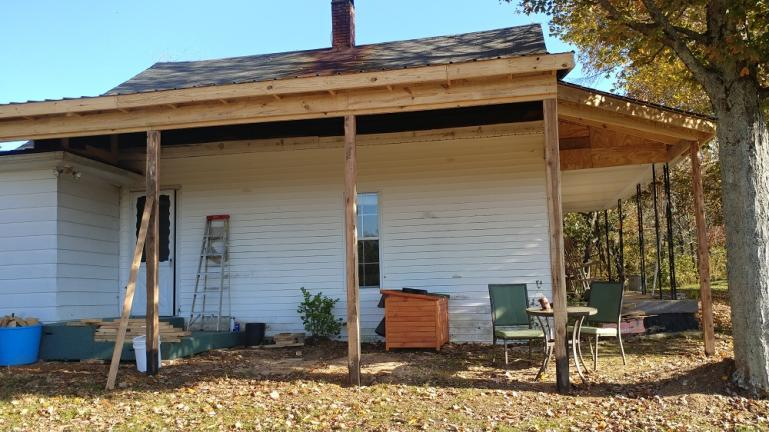 Side Porch Phase 1 complete  10-28-19