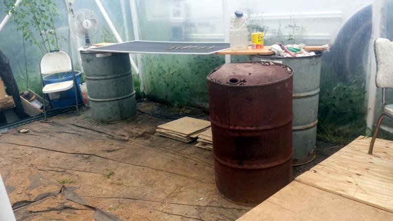Heater / Oil Barrel Placement Test