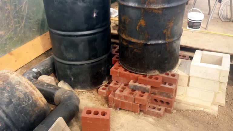 Testing Burn Barrel Placement & Brick Foundation