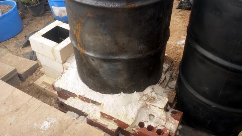 Burn Barrel Placed on Sand Gasket
