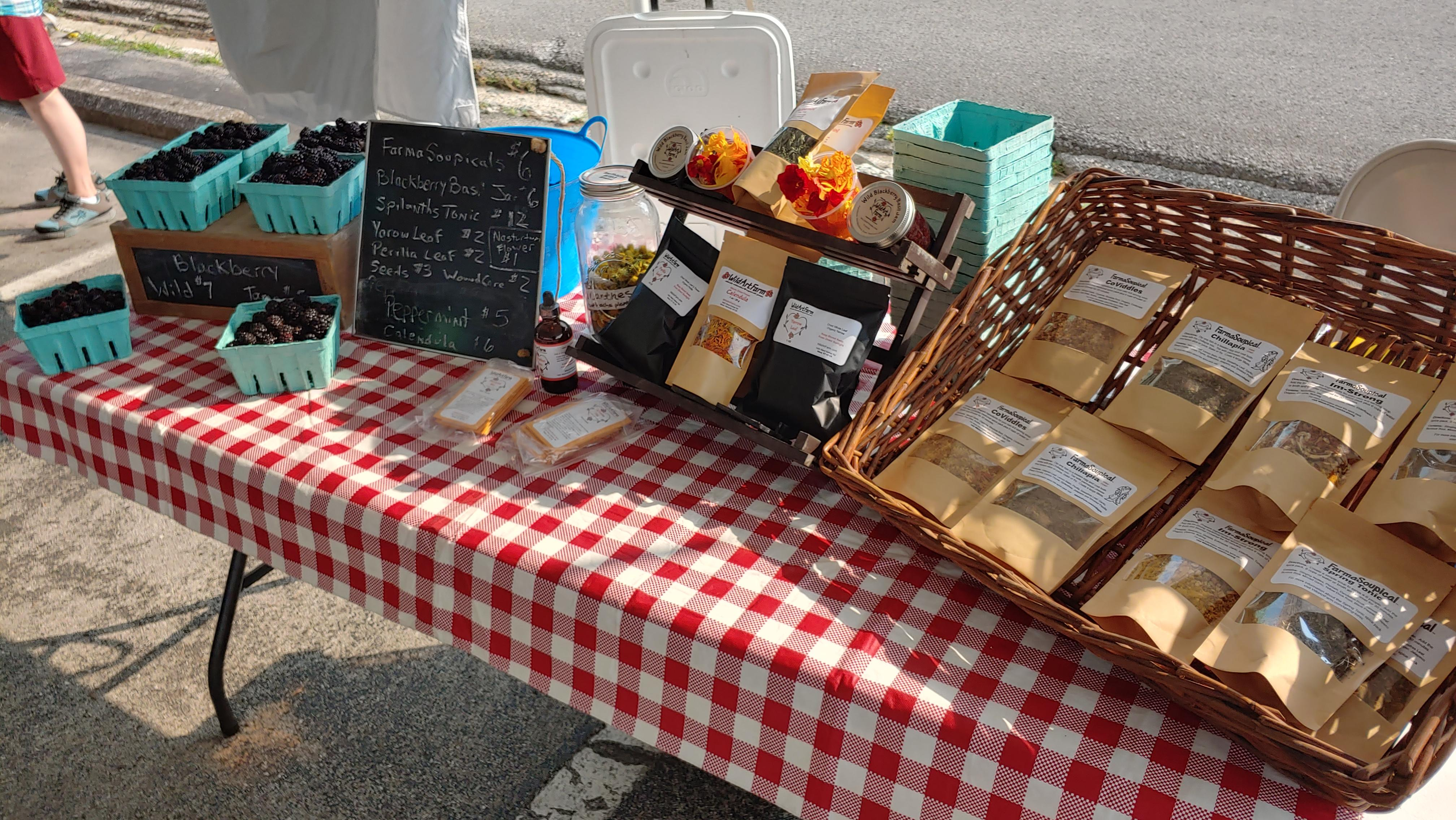Peppermint Debuts at the Farmers Market