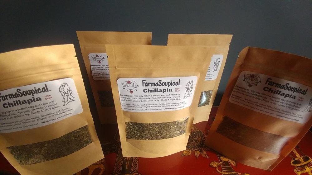 Herbal Medicinal Chillapia Fish Seasoning Coat Packages