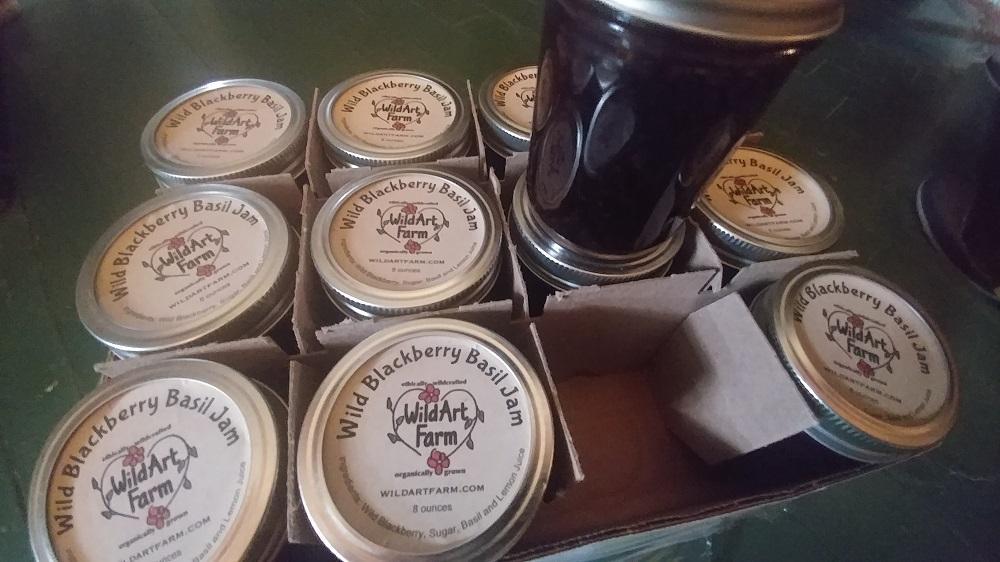 Wild Blackberry Basil Jam